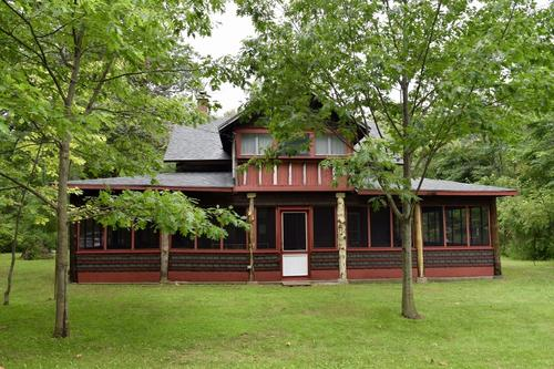 A cottage building frontage previously known as the Blenheim Old Boys Club at Rondeau Provincial Park