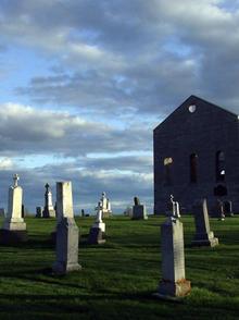 Church and graveyard.