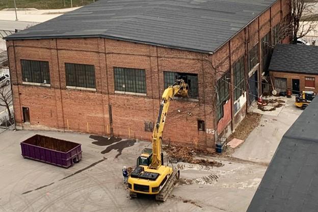 Work crews will bulldozers