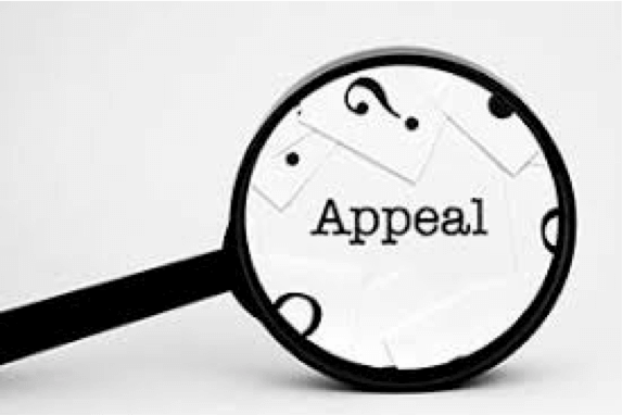 "An image of a magnifying glass inspecting the word ""Appeal"""