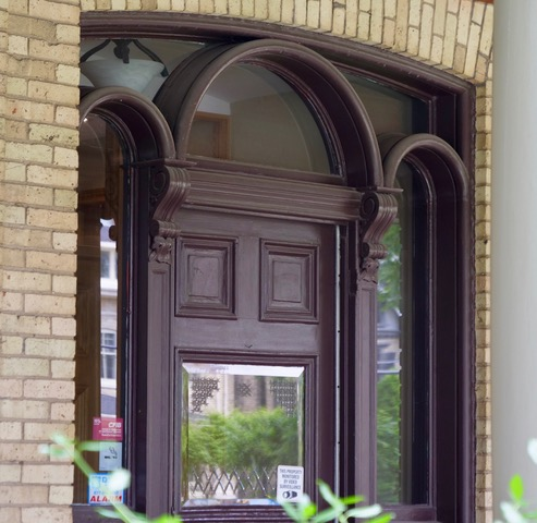 London Doorway in London's West Woodfield Heritage Conservation District