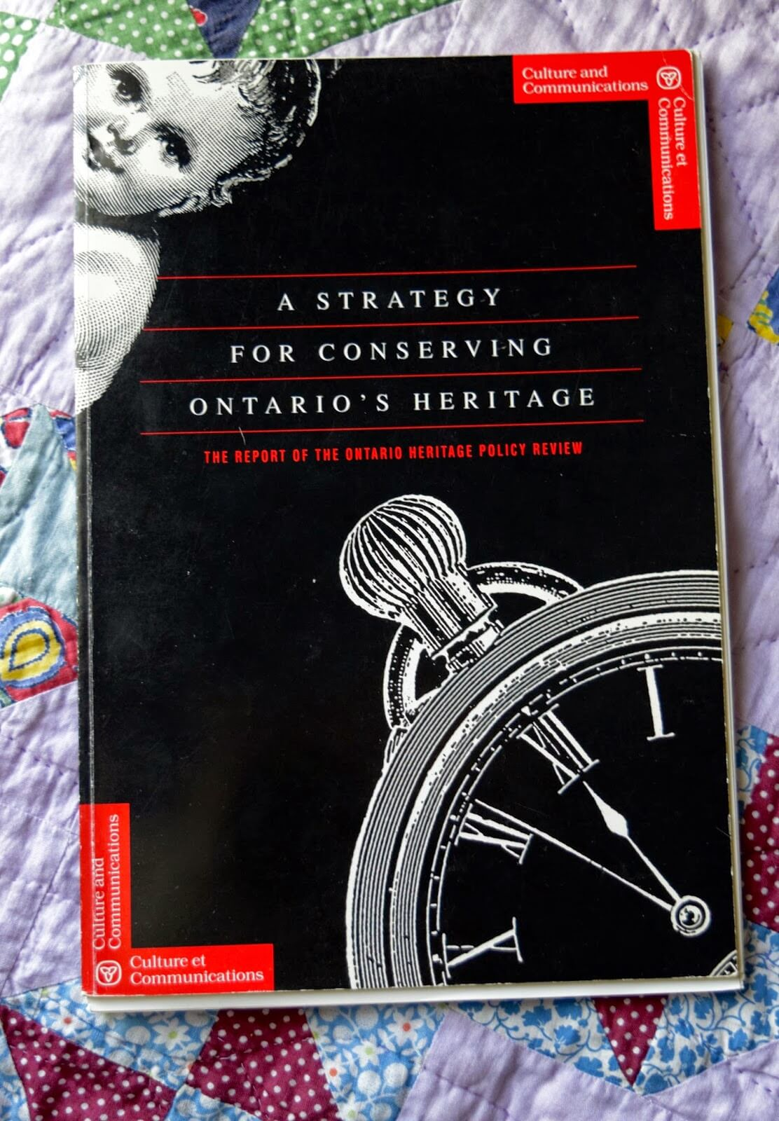 The book cover of A Strategy for Conserving Ontario's Heritage.