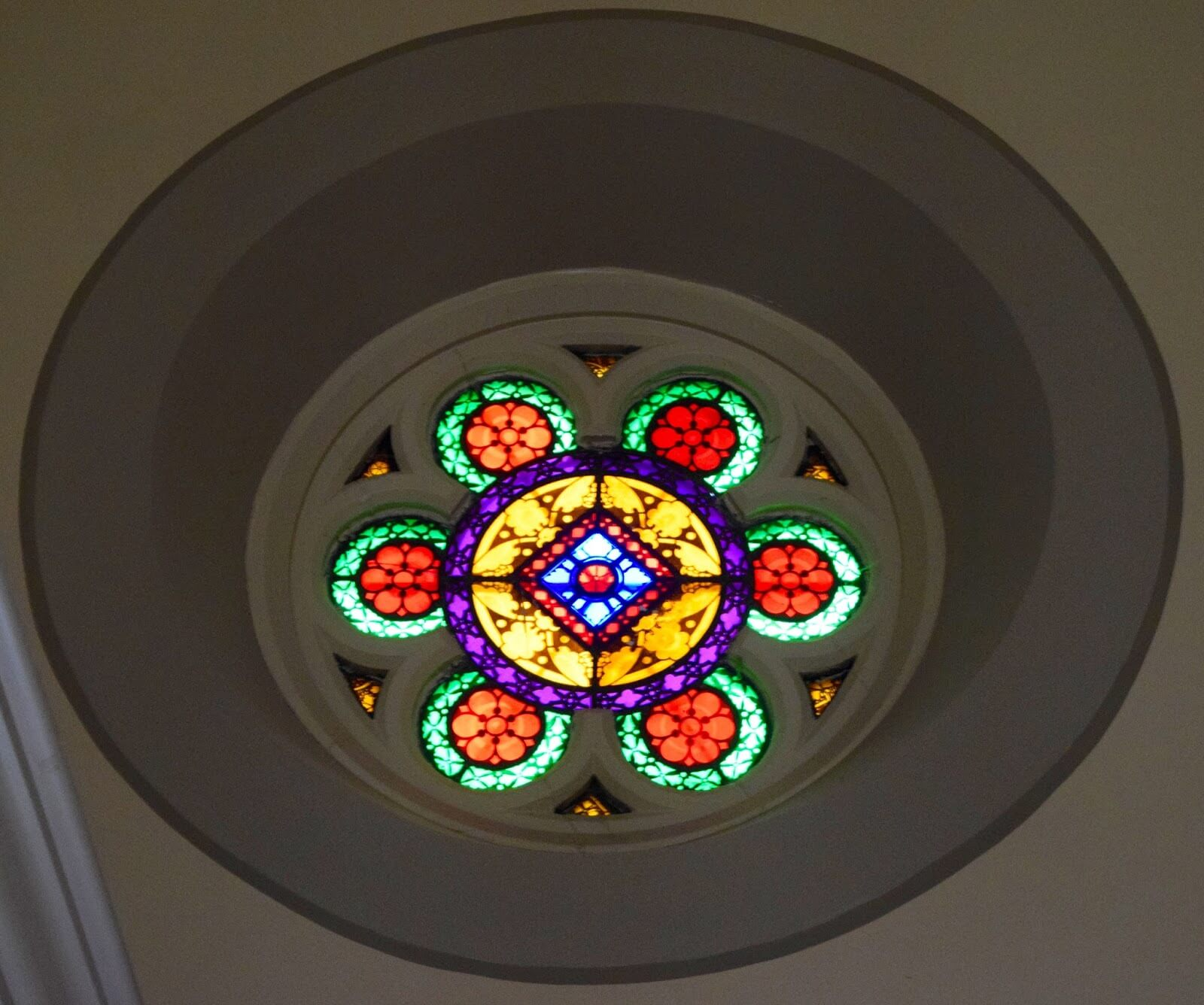A colourful stain glass.