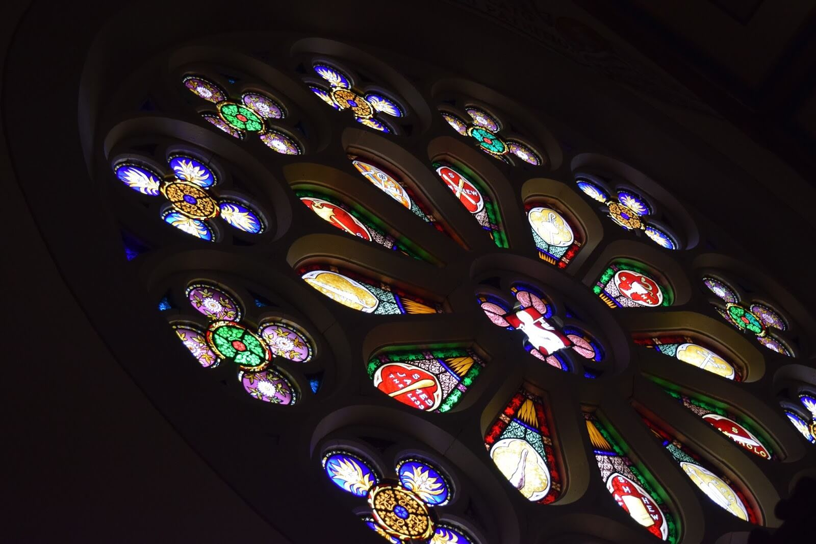 Rose window stained glass.