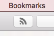 Safari's RSS icon.