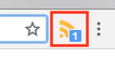 RSS icon with one unread post.