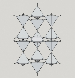 Spin-ice lattice with spins in a 2-in, 2-out configuration