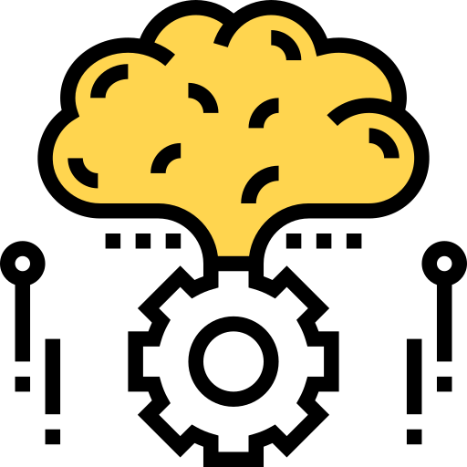 Illustration of a gear connected to a cloud