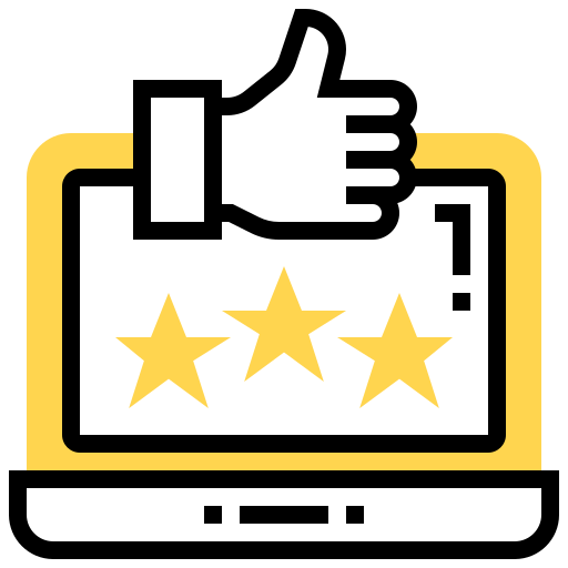 Icon illustrating number 1 rating onlinie