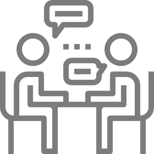 people talking face to face icon