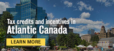 Tax credit and incentives in Atlantic Canada