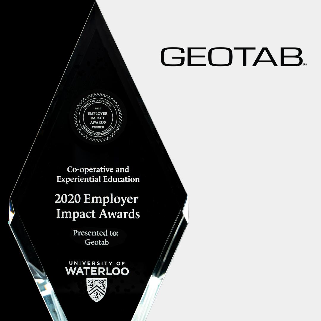 geotab trophy and logo