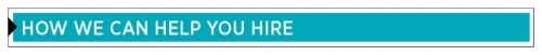 How we can help you hire