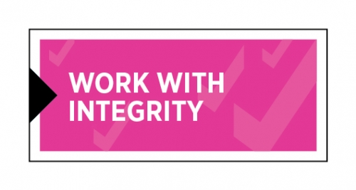 Work with integrity image button