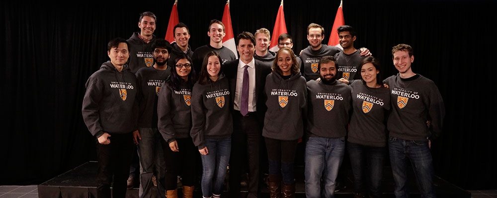 Prime Minister Justin Trudeau and Waterloo Students