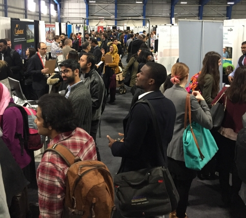 Crowd of students at Job Fair