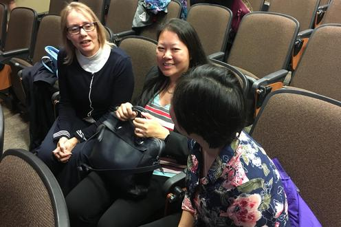 UWaterloo staff attend a thank you event for Dovetale