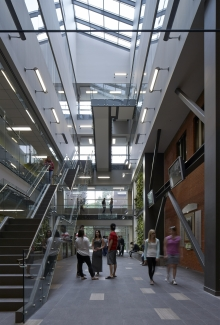 interior of one of the environment buildings on campus