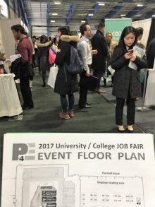 using floor plan to navigate through job fair