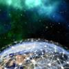 globe with futuristic graphic