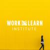 women walking with yellow wall , wxl logo