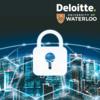 lock graphic, deloitte and waterloo logo