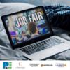 laptop that says job fair