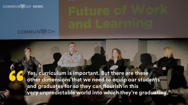 """""""Yes, curriculum is important. But there are these other dimensions that we need to equip our students and graduates for so they can flourish in this very unpredictable world into which they're graduating,"""""""