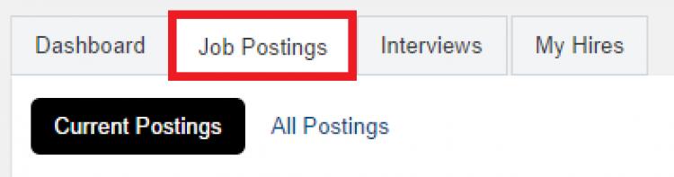 Job postings tab on WaterlooWorks