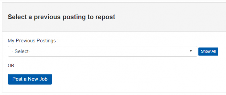 Select a job to repost