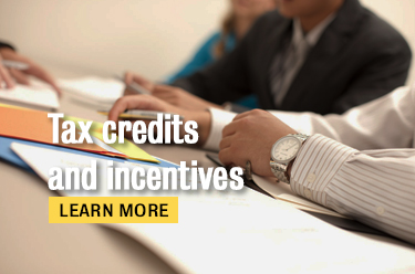 Tax credits and incentives