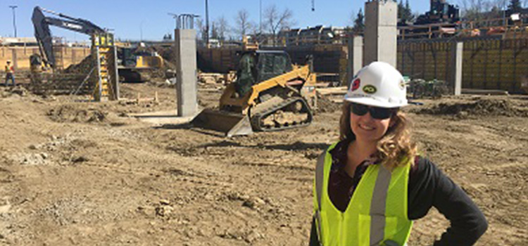Patricia Baranoski, a third-year Civil Engineering co-op student