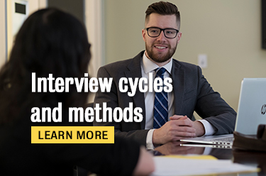 Click here to learn more about interview cycles and methods!