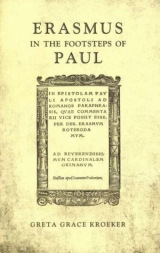 Erasmus in the Footsteps of Paul book cover