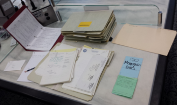 Andrew McLaughin's desk in the US National Archive II