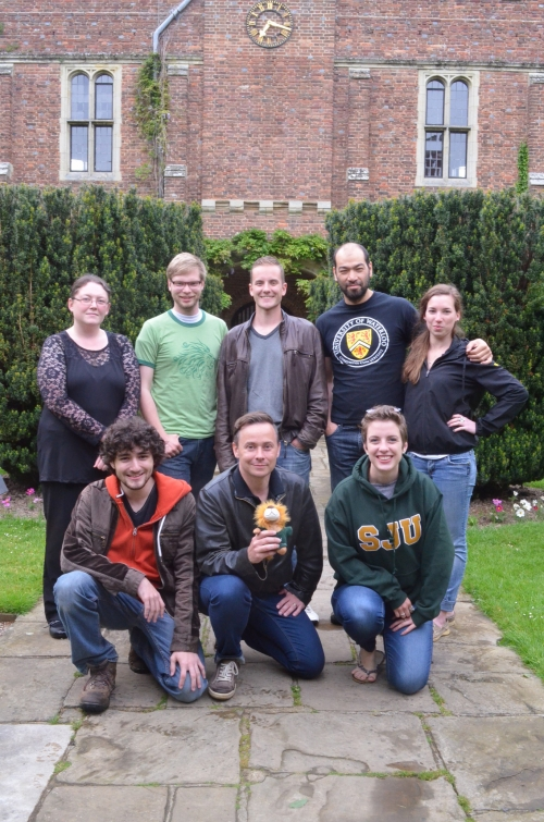 2014 experiential learning adventure students at Herstmonceux Castle, East Sussex, UK