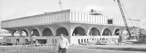 The Dana Porter Library under construction in 1964