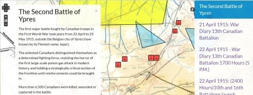 Second Battle of Ypres interactive map