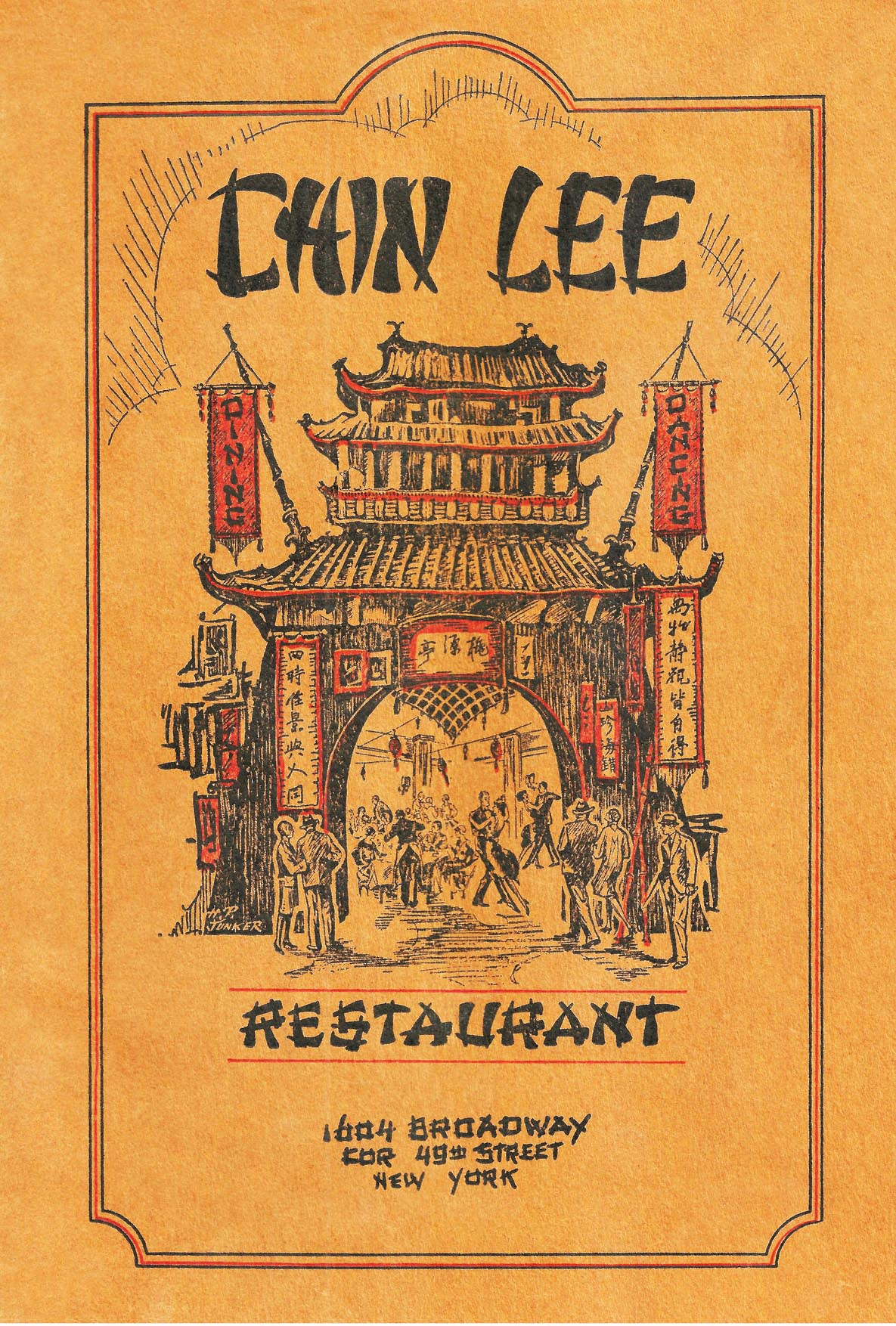 1930s Chin Lee Restaurant menu cover (New York)