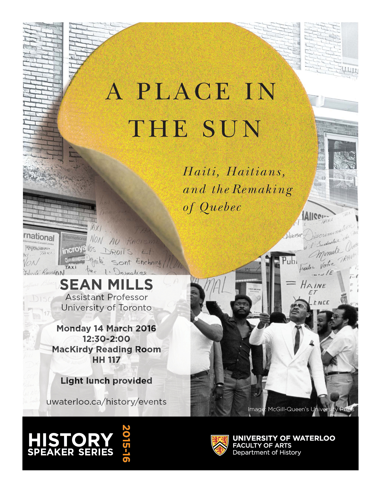 A Place in the Sun cover image with talk details.