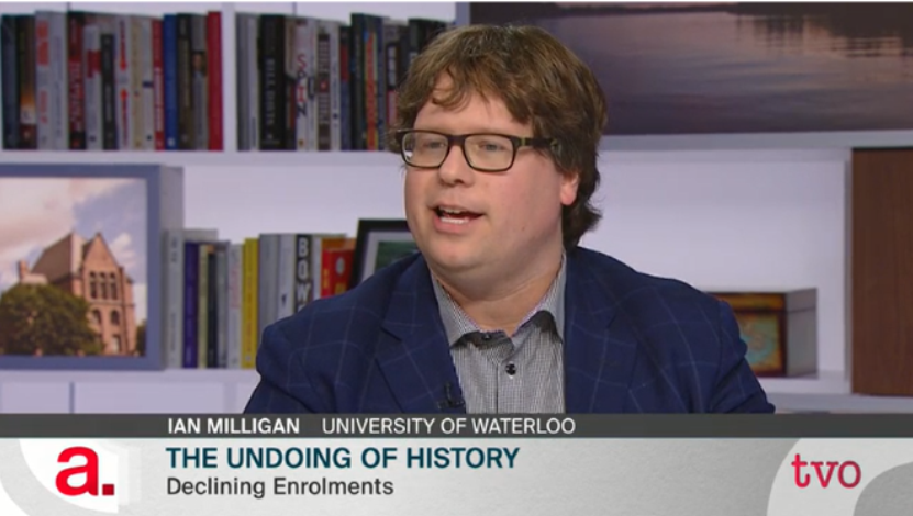 Screen Grab of Ian Milligan on The Agenda with Steve Paikin