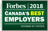 Forbes Canada's Best Employers 2018 logo