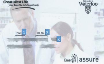 sample of the university of waterloo benefit card