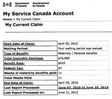 benefits service canada maternity paternity leave bnft