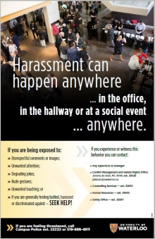 Harassment Can Happen Anywhere poster