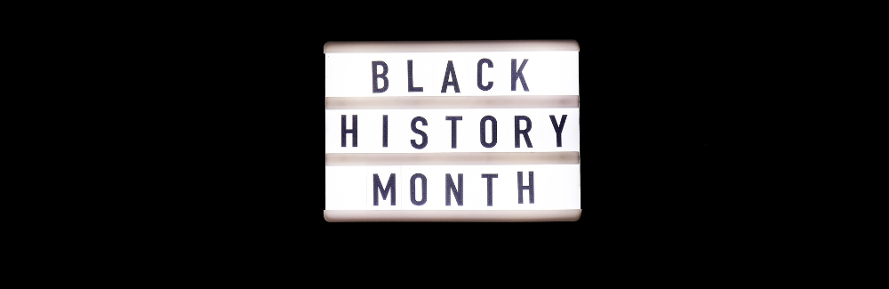 """A sign that reads """"Black History Month"""""""