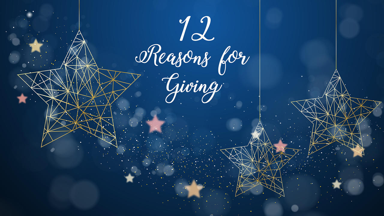 Twelve reasons for giving
