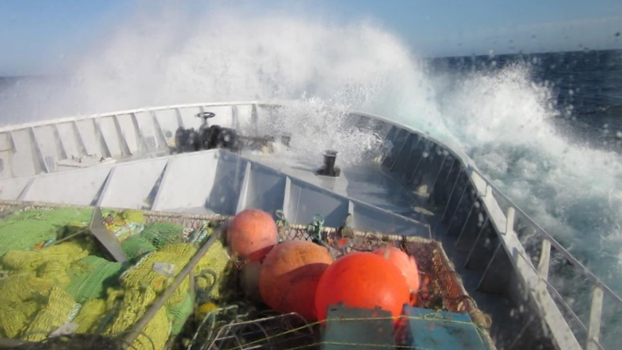 Waves on boat