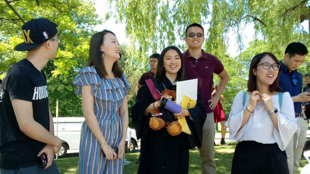Brandy and friends at Convocation.