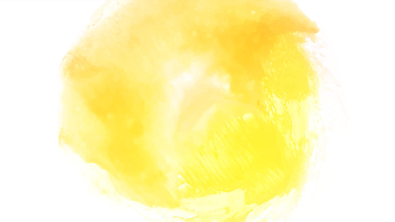 Yellow ink blotch